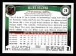 2011 Topps #79  Kurt Suzuki  Back Thumbnail
