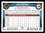 2011 Topps #166  Josh Johnson  Back Thumbnail