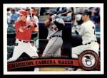 2011 Topps #109   -  Josh Hamilton / Miguel Cabrera / Joe Mauer AL Batting League Leaders Front Thumbnail