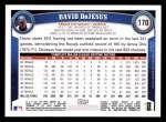 2011 Topps #170  David Dejesus  Back Thumbnail
