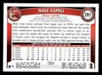 2011 Topps #201  Mike Napoli  Back Thumbnail