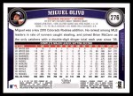2011 Topps #276  Miguel Olivo  Back Thumbnail