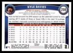 2011 Topps #259  Kyle Davies  Back Thumbnail