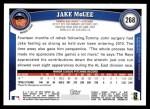 2011 Topps #268  Jake McGee  Back Thumbnail