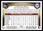 2011 Topps #384  Nick Hundley  Back Thumbnail
