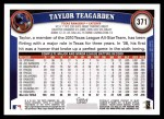 2011 Topps #371  Taylor Teagarden  Back Thumbnail