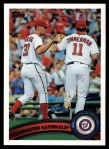 2011 Topps #374   Nationals Team Front Thumbnail