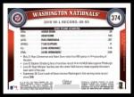 2011 Topps #374   Nationals Team Back Thumbnail