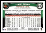 2011 Topps #348  Landon Powell  Back Thumbnail