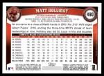 2011 Topps #490  Matt Holliday  Back Thumbnail