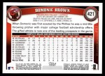 2011 Topps #421  Domonic Brown  Back Thumbnail