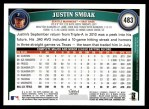 2011 Topps #483  Justin Smoak  Back Thumbnail