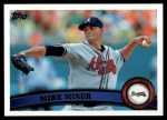 2011 Topps #478  Mike Minor  Front Thumbnail