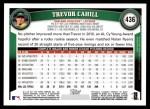 2011 Topps #436  Trevor Cahill  Back Thumbnail