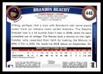 2011 Topps #446  Brandon Beachy  Back Thumbnail