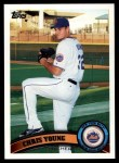 2011 Topps #580  Chris Young  Front Thumbnail