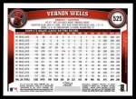 2011 Topps #525  Vernon Wells  Back Thumbnail