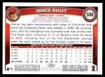 2011 Topps #508  Homer Bailey  Back Thumbnail