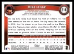 2011 Topps #516  Mike Leake  Back Thumbnail