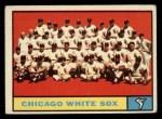 1961 Topps #7 WHI  White Sox Team Front Thumbnail