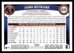 2011 Topps #635  Jason Heyward  Back Thumbnail