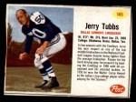 1962 Post #145  Jerry Tubbs  Front Thumbnail