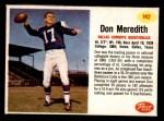 1962 Post #142  Don Meredith  Front Thumbnail