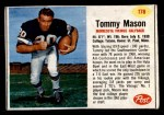 1962 Post #178  Tommy Mason  Front Thumbnail
