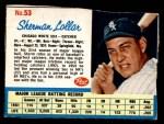 1962 Post #53  Sherman Lollar   Front Thumbnail