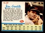 1962 Post #27 SL Jim Gentile   Front Thumbnail