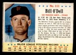 1963 Post #111  Billy O'Dell  Front Thumbnail