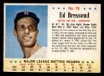 1963 Post #78  Ed Bressoud  Front Thumbnail