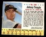 1963 Jello #189  Johnny Temple  Front Thumbnail