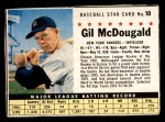 1961 Post #10  Gil McDougald   Front Thumbnail