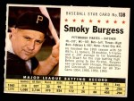 1961 Post #138 COM Smoky Burgess  Front Thumbnail