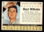 1961 Post #80 COM Hoyt Wilhelm   Front Thumbnail