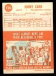1963 Topps #120  Jimmy Carr  Back Thumbnail