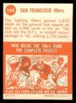 1963 Topps #145   49ers Team Back Thumbnail