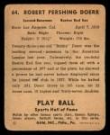 1941 Play Ball #64  Bobby Doerr   Back Thumbnail