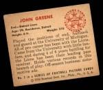 1950 Bowman #2  John Greene  Back Thumbnail