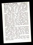 1950 Callahan Hall of Fame  Willie Keeler  Back Thumbnail