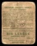 1933 Goudey #2  Dazzy Vance  Back Thumbnail