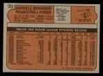 1972 Topps #283  Darrell Brandon  Back Thumbnail