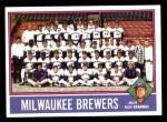 1976 Topps #606   -  Alex Grammas Brewers Team Checklist Front Thumbnail