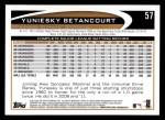 2012 Topps #57  Yuniesky Betancourt  Back Thumbnail