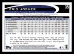 2012 Topps #35  Eric Hosmer  Back Thumbnail