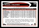 2012 Topps #106  Mark Trumbo  Back Thumbnail