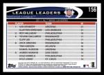 2012 Topps #156   -  Ian Kennedy / Clayton Kershaw / Roy Halladay NL Wins Leaders Back Thumbnail