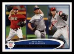 2012 Topps #156   -  Ian Kennedy / Clayton Kershaw / Roy Halladay NL Wins Leaders Front Thumbnail