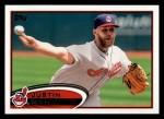 2012 Topps #205  Justin Masterson  Front Thumbnail